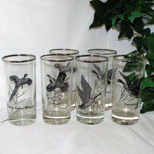 Federal Glass Sportsman 6 Glasses Game Birds